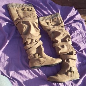 Knee high buckle boots size 7